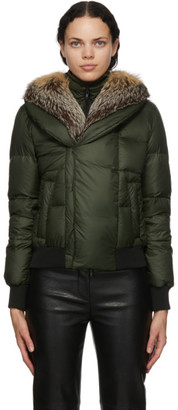 Mr & Mrs Italy Green Down Puffer Jacket