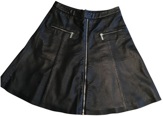 Karl Lagerfeld Paris Black Leather Skirt for Women