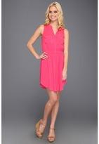 Splendid Shirt Tank Dress (Flamingo) - Apparel