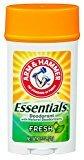 Arm & Hammer Deodorant 2.5oz Essentials Fresh (Wide) (3 Pack)