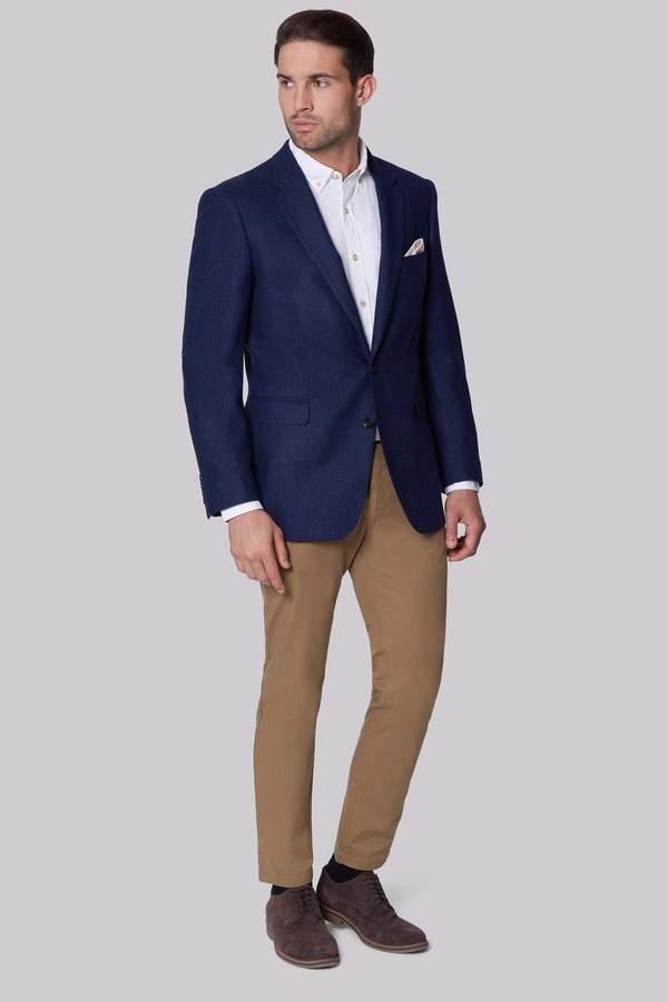Ermenegildo Zegna Indigo Regular Fit Semi Plain Jacket