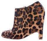 Christian Louboutin Ponyhair Leopard Print Booties