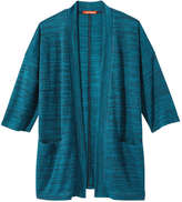 Joe Fresh Women's Dolman Open Cardi, Teal (Size XL)