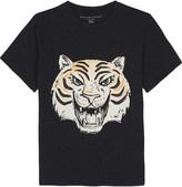 Stella McCartney Arrow tiger face cotton t-shirt 4-14 years