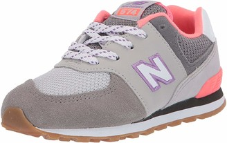 New Balance Kids 574 V1 Evergreen Lace-Up Sneaker
