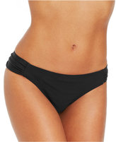 Jessica Simpson Ruched Side-Tab Hipster Bikini Bottoms