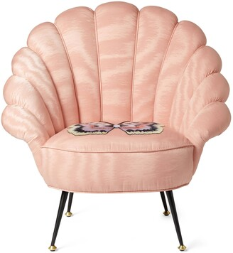Gucci Moire armchair with embroidered butterfly