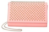 Christian Louboutin Paloma Spiked Leather Chain Clutch.