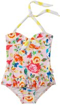 Seafolly Girls Roses Are Pink Halter One Piece (6mos7yrs) - 8120284