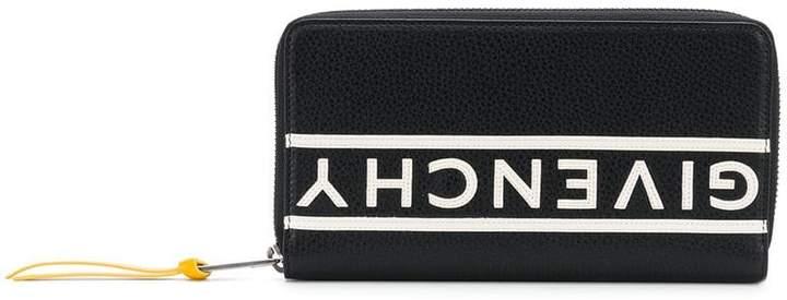 Givenchy mirrored logo zip around wallet
