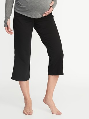 Old Navy Maternity Rollover-Waist Wide-Leg Yoga Crops
