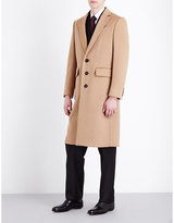 Burberry Single-breasted Camel And Wool-blend Coat