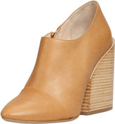 Chloé Wide-Heeled Pointy Bootie, Tan