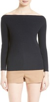 Theory Sandora Envelope Collar Merino-Blend Sweater
