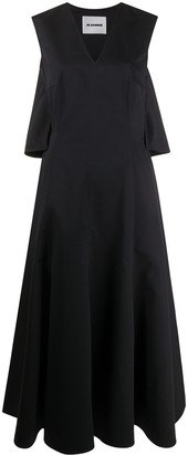 Jil Sander V-neck flared dress