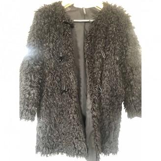 Liviana Conti Black Faux fur Coat for Women