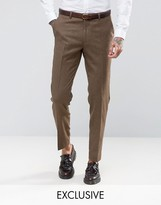 Heart & Dagger Heart And Dagger Woven In England Skinny Suit Trousers In Dogtooth