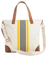 Women's Center Striped Tote with Removable Crossbody Strap - Merona