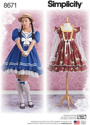 Simplicity Sweet Lolita Dress, 8671