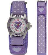 Ravel Girls Polka Dot NylonStrap Watch