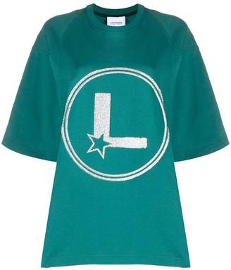 Lourdes oversized glitter logo T-shirt