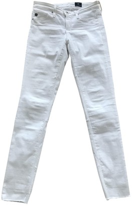 AG Adriano Goldschmied White Cotton - elasthane Jeans for Women