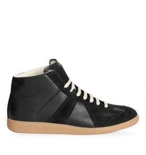 Maison Margiela Replica High-Top Leather Sneakers