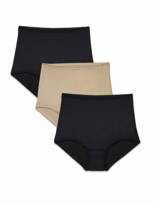 Brilliance by Vanity Fair Women's 3-Pack Undershapers Light Control Brief Panty 40301