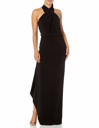Halston Women's Cross Neck Crepe Gown