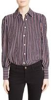 Frame Women's Stripe Silk Blouse