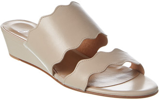 French Sole Brisbane Leather Wedge Sandal