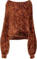Caroline Constas Velvet Knit Wide Neck