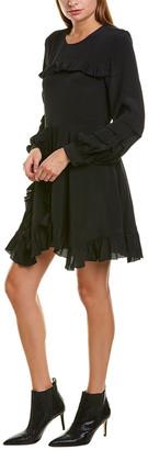 IRO Frill Silk-Blend A-Line Dress