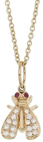 Sydney Evan Ruby and Diamond Fly Charm Necklace