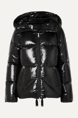 Kjus Trovat Hooded Quilted Glossed Down Ski Jacket - Black