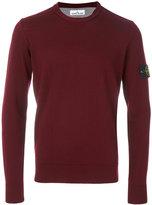 Stone Island logo embellished crew neck sweater