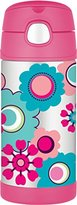 Thermos FUNtainer Straw Bottle, Floral, 355 ml