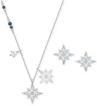 Swarovski 2-Pc. Set Crystal Pendant Necklace & Matching Stud Earrings