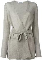 Lamberto Losani waist tie cardigan - women - Silk/Cashmere/other fibers - S