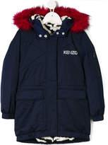 Kenzo faux fur trim hooded parka