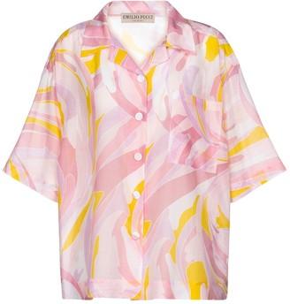 Emilio Pucci Beach Printed cotton and silk shirt