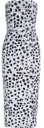16Arlington Strapless Sequined Crepe Midi Dress