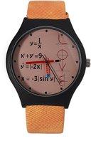 FeiFan Creative Boys Girls Math Formula Equation Dial Unisex Leather Quartz Wrist Watch