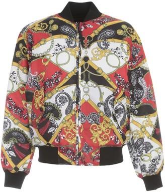 Versace Jeans Couture Nylon Reversible Jacket Print Belts