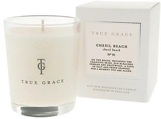 True Grace - Village Candle - Chesil Beach - white - White/White