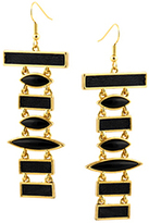 House Of Harlow 1960 Totem Pole Earrings Gold