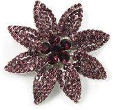 Avalaya Light Purple Swarovski Crystal Bridal Corsage Brooch ( Tone)