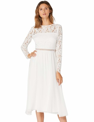 Private Label Amazon Brand - TRUTH & FABLE Women's Midi Lace A-Line Dress