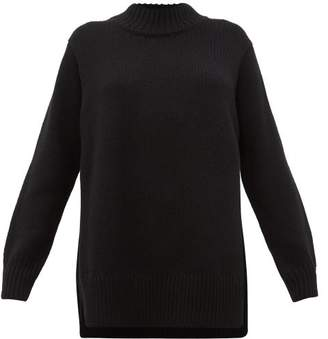 The Row Edmund Mock-neck Cashmere Sweater - Womens - Black