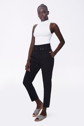 Forever 21 High-Rise Paperbag Pants